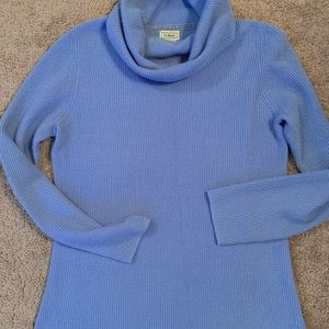 LL Bean small cashmere funnel neck Tunic Sweater